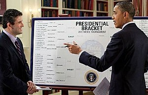 Barack Obama Picks Kansas to Win The National Championship