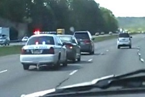 Cop Forces Slow Driver to Switch Lanes [NSFW VIDEO]