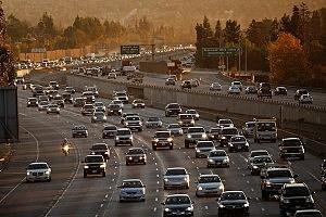 Streaker Takes Jog Along L.A. Freeway
