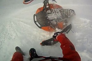 See A Three-Minute-Long Snowmobile Wreck in Stunning HD