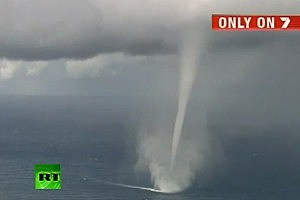 Waterspouts Form Off Australian Coast
