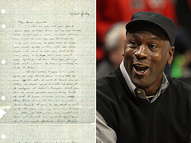 Love Letter Written by Teenaged Michael Jordan Found, Posted on the Internet